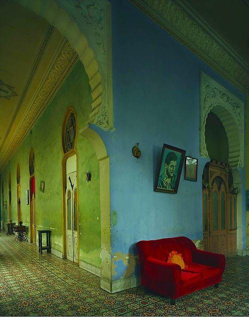 Red Couch - Havana by Michael Eastman Cuba 2010