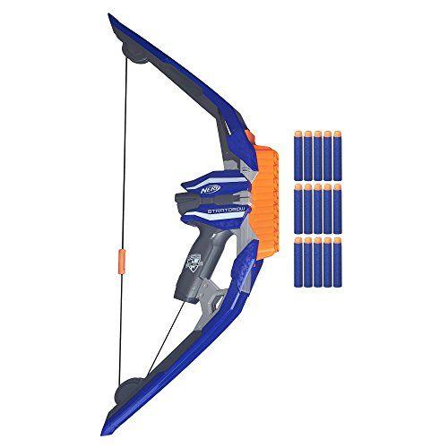 Nerf – B5574 – Elite Stratobow: L'arc NERF doté de la plus grosse capacité de tir grâce à son chargeur 15 fléchettes ! Véritable gestuelle…