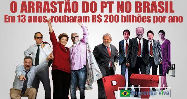 O PT promoveu um arrastão que durou 13 anos. Brasil vai precisar de cinco anos para se recuperar   Imprensa Viva