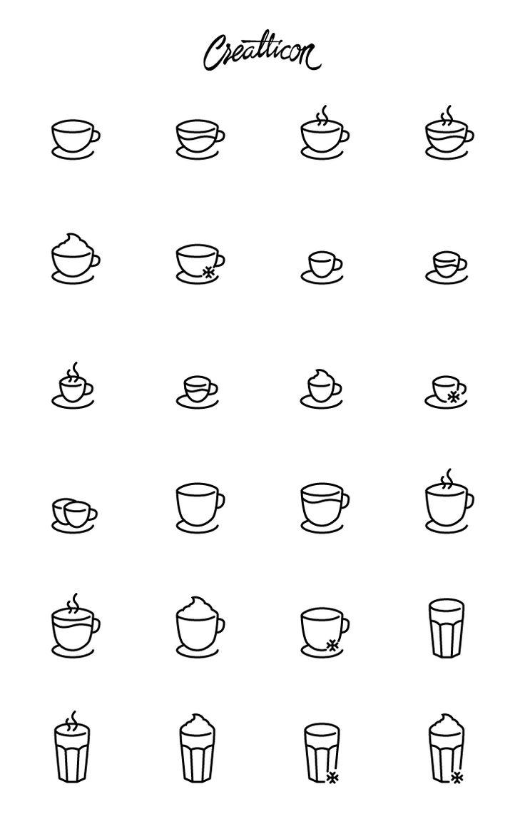 High-Quality Coffee Shop Icon Set, #AI, #Coffee, #EPS, #Free