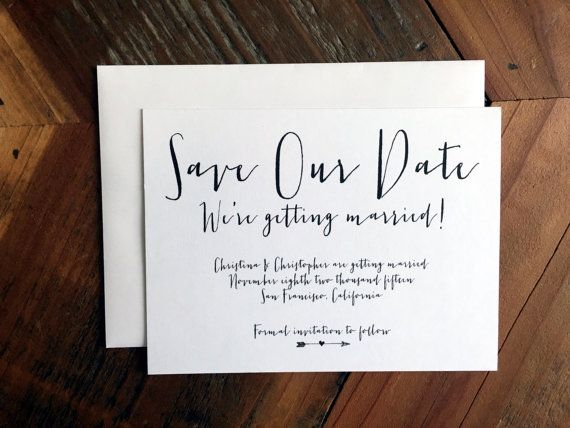 Save our Date Calligraphy Style Font Simple by CottonandGrain