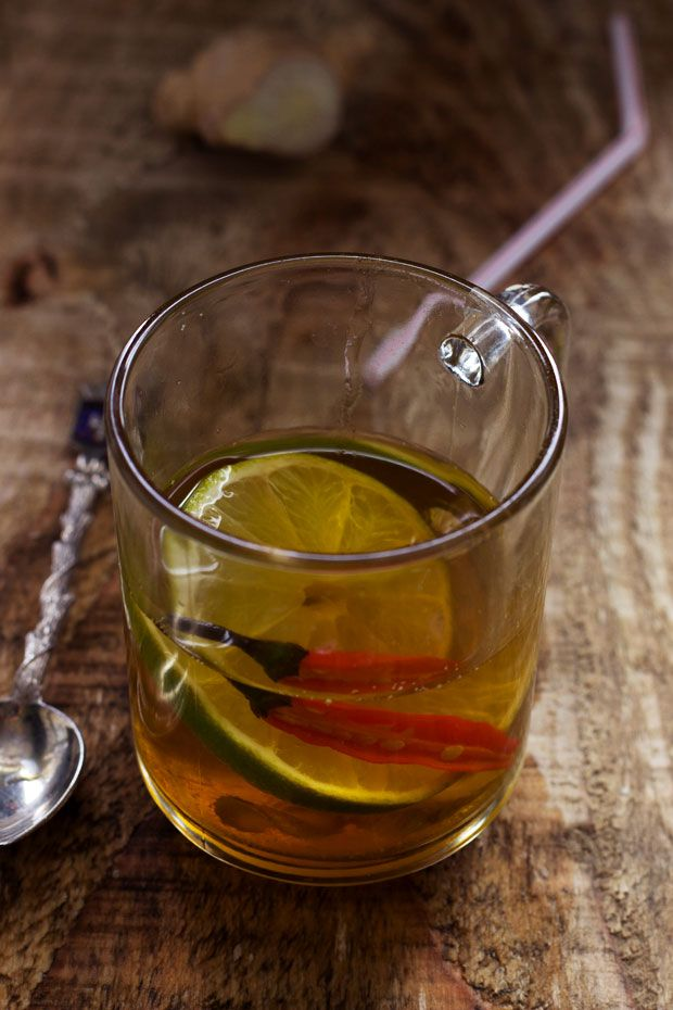 Flu-Fighting Winter Tea | eatwell101.com