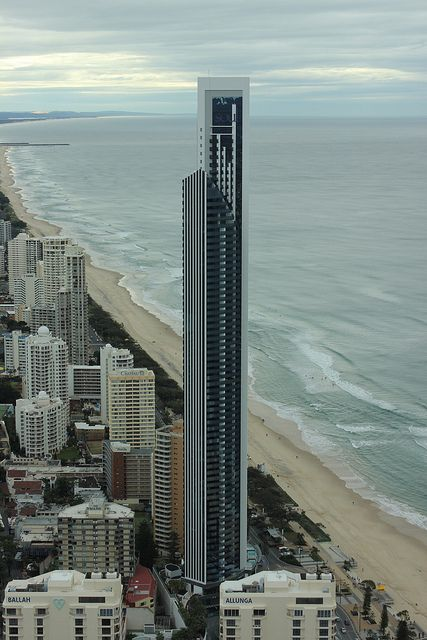 The newly built Soul building in Surfers Paradise during the day