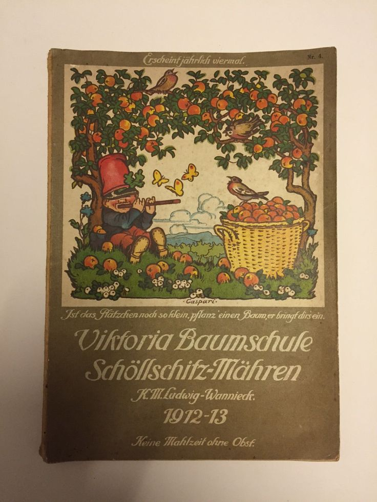 Viktoria Baumschule Schöllschitz-Mähren 1912 1913 Katalog | Antiquitäten & Kunst, Antiquarische Bücher | eBay!