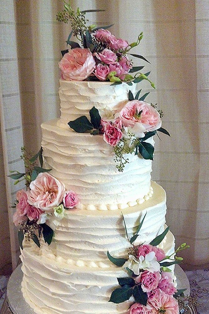 Spectacular Buttercream Wedding Cakes ❤ See more: http://www.weddingforward.com/buttercream-wedding-cakes/ #weddings