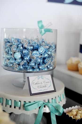 Something blue bridal shower theme