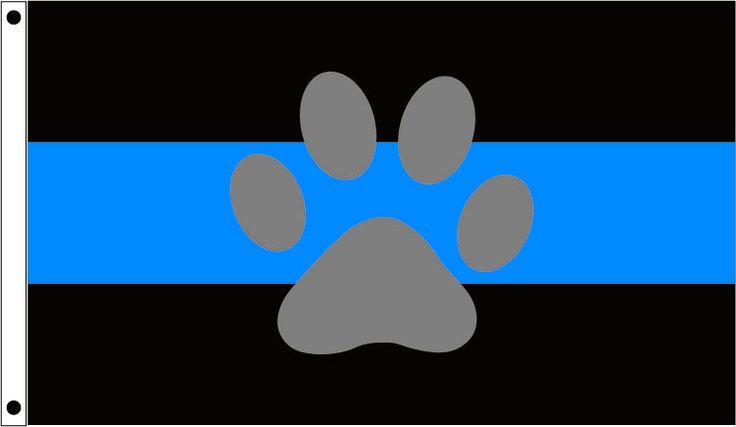 FlagCenter.com - K-9 Thin Blue Line Flag,