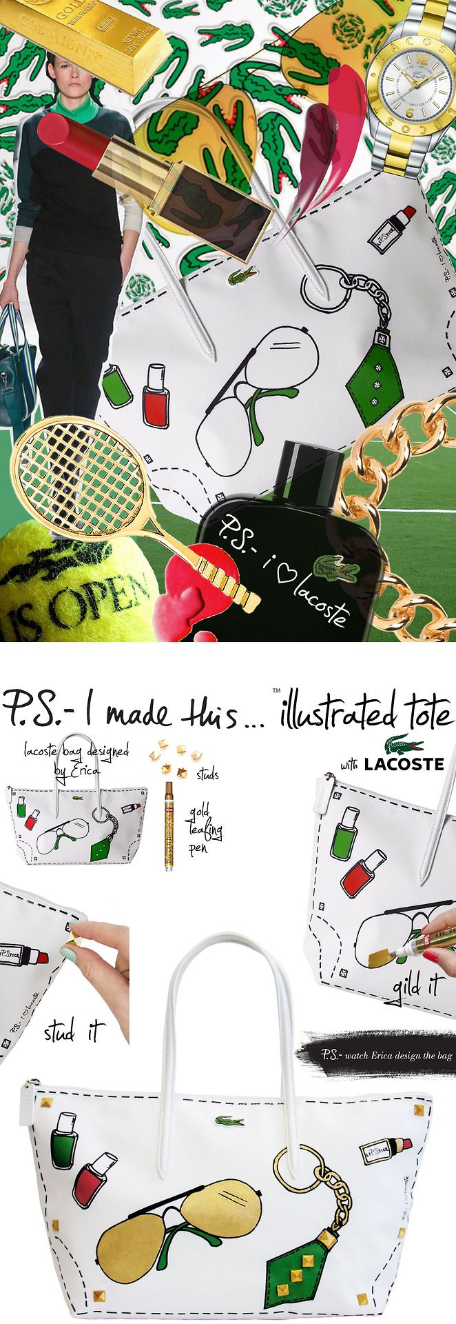 P.S.-I made this...Illustrated Tote with @Lacoste  #L1212Bag Available here:  http://shop.lacoste.com/L-12-12-Concept-Blogger-Bag-Erica/dp/B00EA9L1X2/?intid=link_bloggercollection_09112013_PSIMadeThis#.UjMsg2TXQ7Q
