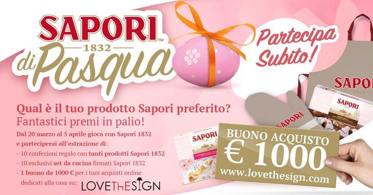 Vinci i tuoi prodotti Sapori preferiti, l'esclusivo set da cucina personalizzato e partecipa all'estrazione di un buono da 1.000 € per i tuoi acquisti online dedicati alla casa!