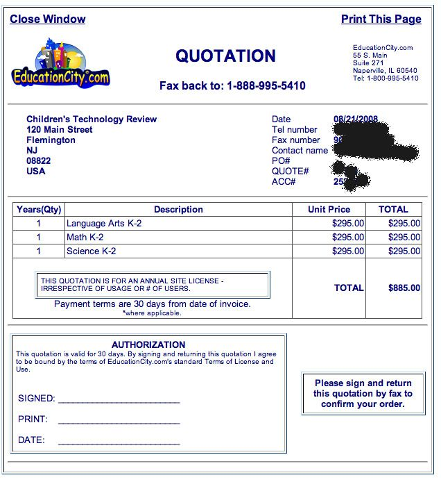 Quotation Format - Price Quotation Format