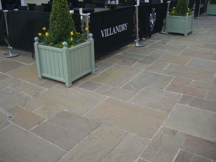 Indian Sandstone Paving. Raj Green Indian Sandstone - LSD.co.uk