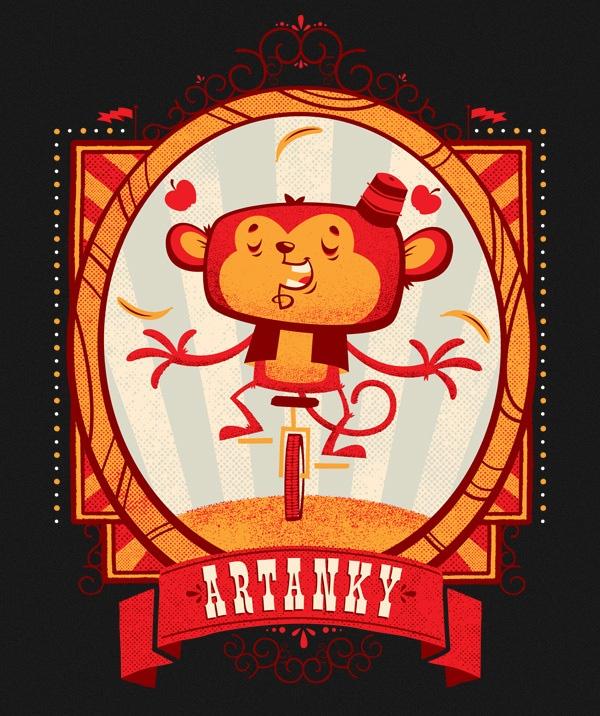 Monkey: Artanki Monkey, Illustrations Graphicdesign, Design Illustrations, Illustrations Inspiration, Animal Illustrations, Socks Monkey, Art Inspiration, Chris Sandlin, Artanki Illustrations