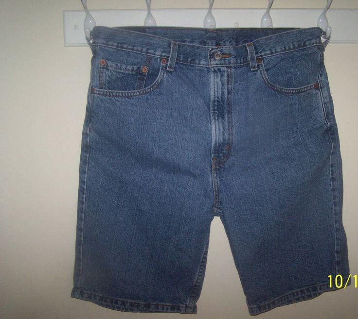 Levi 560 Mens Blue Jean Shorts 36  Iinch Waist         #Levis #505Shorts