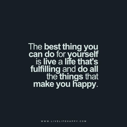 Live a Life That's Fulfilling
