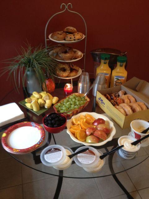 New Nostalgia: Last- Minute Continental Breakfast for 12 pretty!