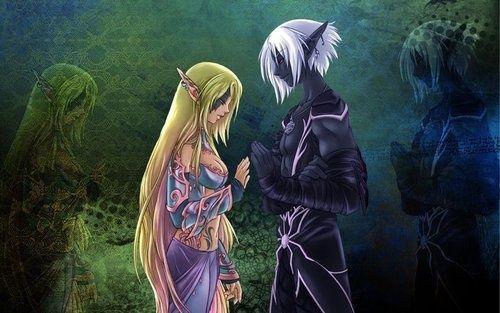 Elf couple found on under dark - Dark anime couples ...