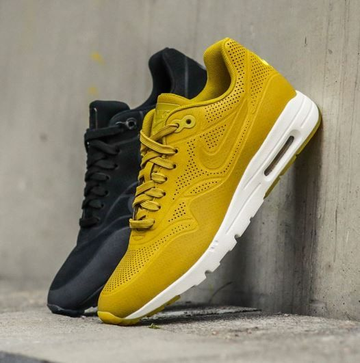 premium selection ccdd6 a4bb4 Ready yourself for the women s Nike Air Max 1 Ultra Moire Pack, available  now in Black or Dark Citron.   Nike shoes   Nike air max for …