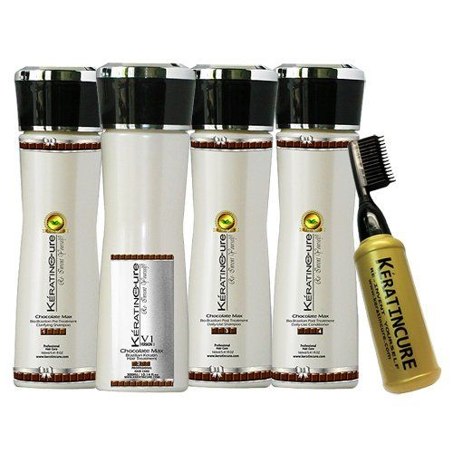 Brazilian Keratin Hair Treatment Kit 6 Piece Chocolate V1 Strong hair straightening 160 ml / 5.41 FL oz *** Check out this great product.