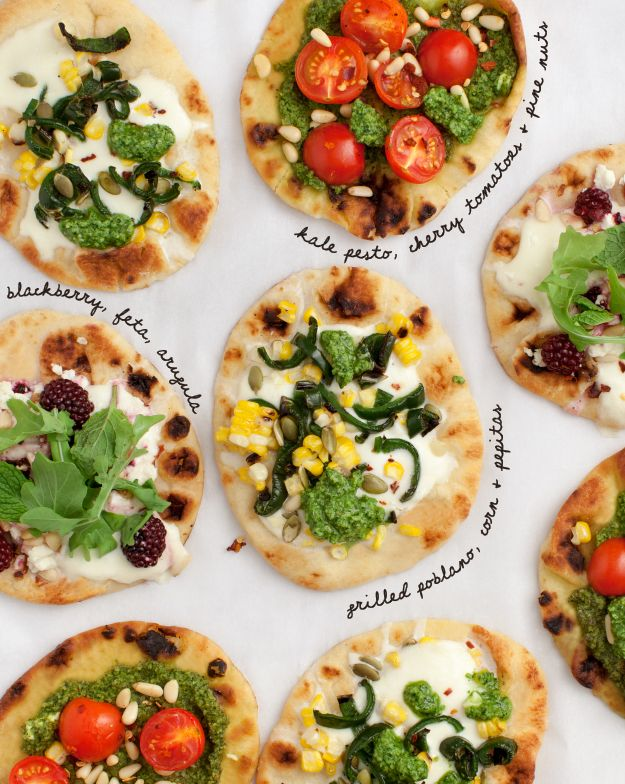 Mix & Match Mini Pizzas Made with Naan