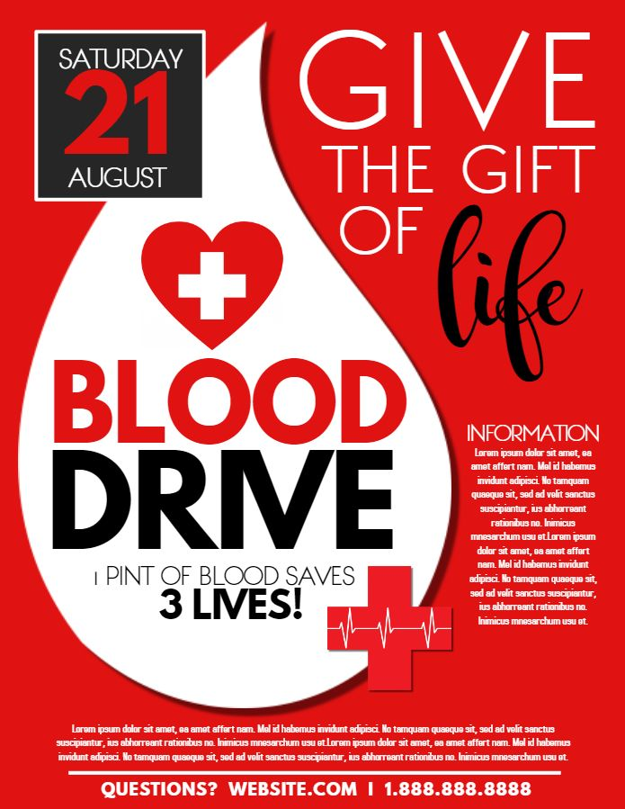 blood drive campaign event flyer design