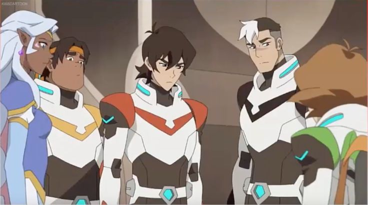 Keith, angry and disappointed about Pidge leaving the team behind from Voltron Legendary Defender