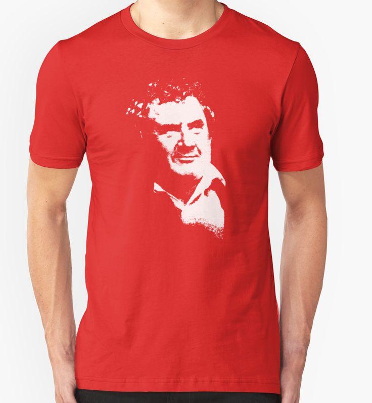 'Niall' @redbubble  - Graphic art version of Irish comedian and actor Niall Tóibín #nialltoibin #comedian #red #cork #corkman #ireland #irish #celebrity #irishpeople #funnyman #tshirts #redbubble