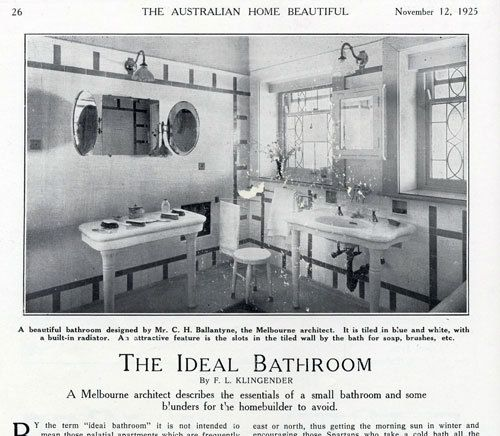 The Ideal Bathroom Of The 1920s (what? No Sunken Tub?)