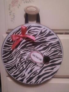Zebra Circle Magnet Board tut