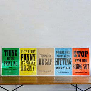New Rules Of Work Poster 5Pk, 45€, now featured on Fab.