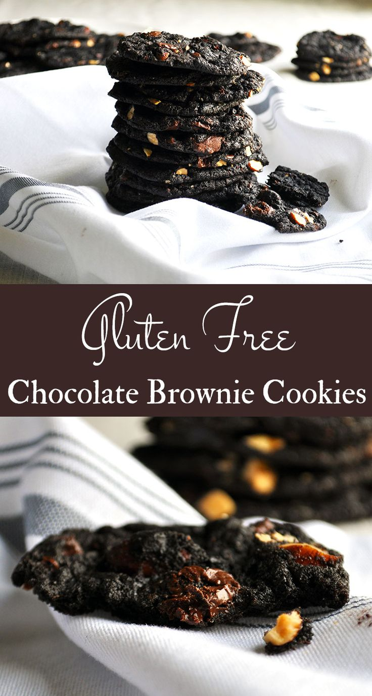 You know those delicious fudgy edges of freshly baked chocolate brownies? That's what these taste like. AND they're gluten free, include peanut butter, honey roasted almonds, and chili infused chocolate. (If you think that sounds like a weird combination, all I can say is TRY THEM.) #browniecookies
