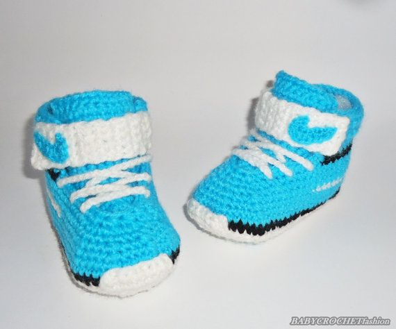 Crochet Baby Converse Baby Shoes Baby by BABYCROCHETfashion