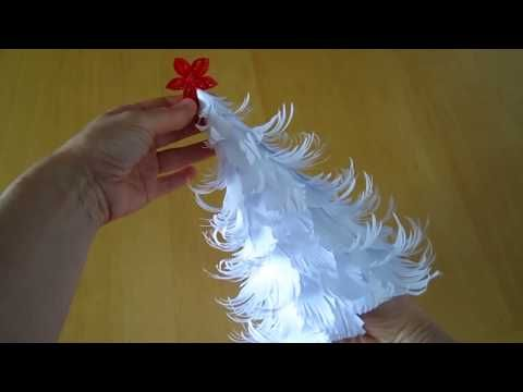 Origami Christmas tree: Paper christmas decorations - Christmas Crafts - Easy tutorial - DIY - YouTube