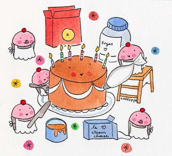 211 best cakes ilustrations images on Pinterest Candies Wall