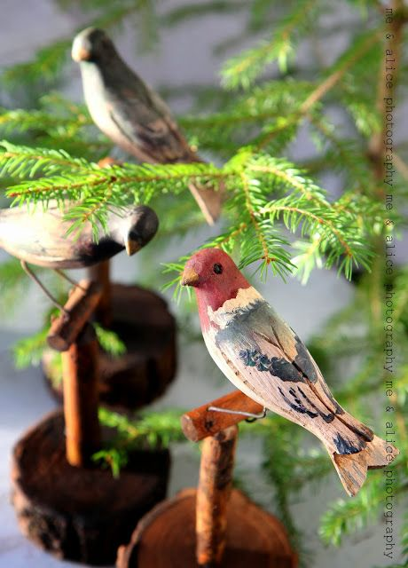 me and Alice: wodden birds for sale