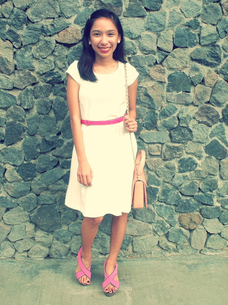 What I wore in Church last Sunday :) See me in White :P