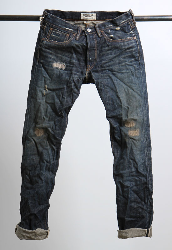 """made in usa"" from japanese salvage denim"
