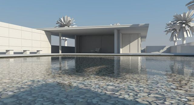 nomeradona ...: Tutorial: How to create Pool Water in Vray Sketchup