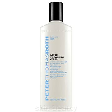 Peter Thomas Roth Acne Clearing Wash - 8.5 oz - is a deep-cleaning, ultra-effective acne wash. It has a new and improved formula that is paraben-free and invigorates with a clean citrus scent. Maximum strength 2% Salicylic Acid helps eliminate the breakout cycle while removing excess makeup and oil.