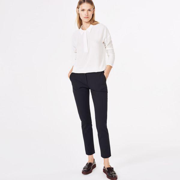 GANT Diamond G: Black Stretch Tapered Pants women | GANT USA Store