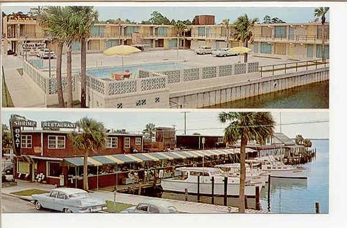 Shrimp Boat Restaurant, Smith's Yacht Basin and Cabana Motel, Panama City Florida by stevesobczuk, via Flickr