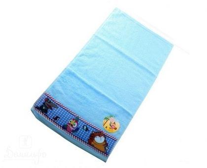 Купить полотенце детское с бордюром КЕША голубое 50х90 от производителя Непоседа (Россия)