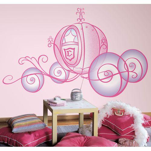 Disney Princess - Princess Carriage Peel and Stick Giant Wall Decal