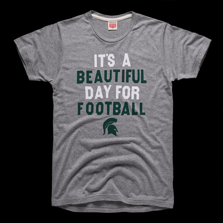 "Nothing speaks to Michigan State's rich football tradition and the school's six national titles more than the six-word phrase that kicks off every game at Spartan Stadium. And regardless of the weather—T-storms, hail, frigid temperatures, a combination of all three—right before kickoff, Spartan Stadium joins the game's announcer in declaring, ""It's a beautiful day for football."" MADE IN USA"