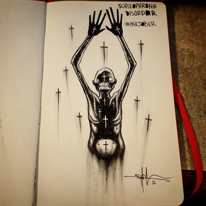 Schizophrenia Disorder http://greatist.com/live/striking-illustrations-represent-different-types-of-mental-illness