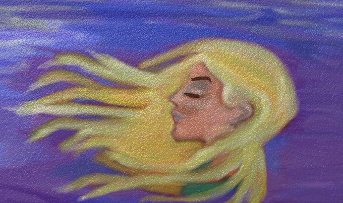 Digital painting looks like Tamsin Egerton