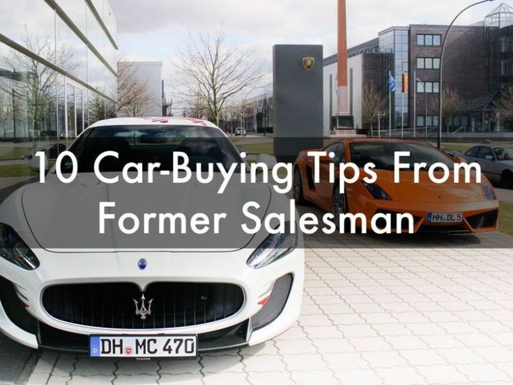 10 Car Buying Tips from a Former Salesman - the secret to car buying success. #spon #TopTips
