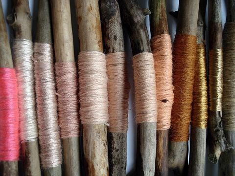 These sticks wrapped in silky pastel thread make my heart skip a beat. Inspiration via Yoth.