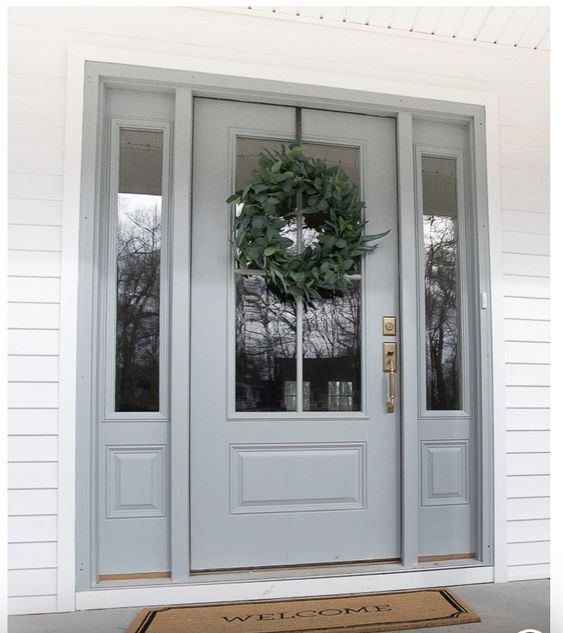 Best Bm Boothbay Gray House Exterior Exterior Doors 400 x 300