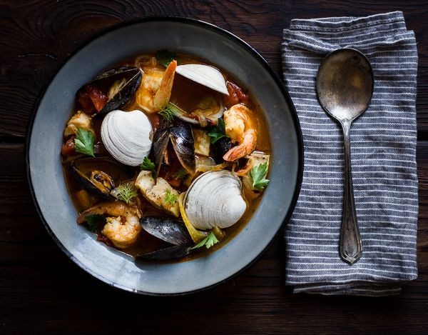 This traditional San Francisco recipe for seafood stew in tomato broth gets an update with fennel, saffron, a glug of wine, and plenty of olive oil, and it makes enough to feed a crowd. *Many thank…