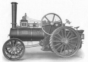 Paxman Traction Engine - catalogue illustration